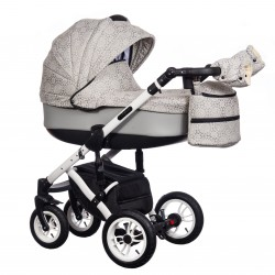 Wózek dziecięcy Paradise Baby EUFORIA wielofunkcyjny 2w1 szary wzór