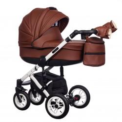 Wózek dziecięcy Paradise Baby EUFORIA wielofunkcyjny 2w1 brązowy