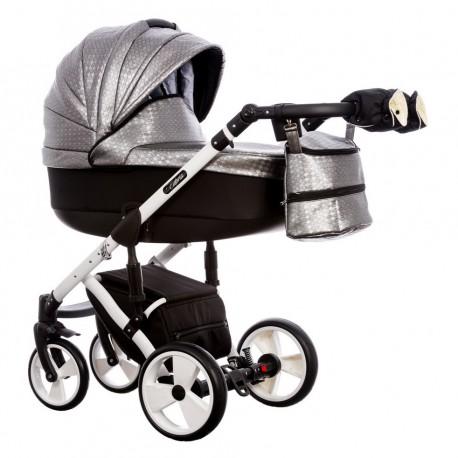Wózek dziecięcy Paradise Baby EUFORIA wielofunkcyjny 2w1 srebrny