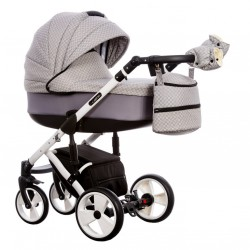 Wózek dziecięcy Paradise Baby EUFORIA wielofunkcyjny 2w1 jasny szary