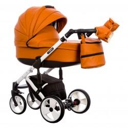 Wózek dziecięcy Paradise Baby EUFORIA wielofunkcyjny 2w1 pomarańczowy