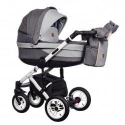 Wózek wielofunkcyjny Euforia Comfort Line Paradise Baby 3w1 szary