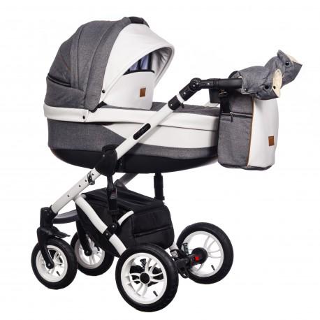 Wózek wielofunkcyjny Euforia Comfort Line Paradise Baby 3w1 biały