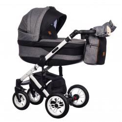 Wózek wielofunkcyjny Euforia Comfort Line Paradise Baby 3w1 czarny