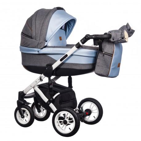 Wózek wielofunkcyjny Euforia Comfort Line Paradise Baby 3w1 niebieski