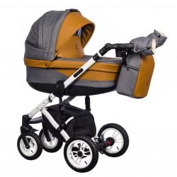 Wózek wielofunkcyjny Euforia Comfort Line Paradise Baby 3w1 brązowy