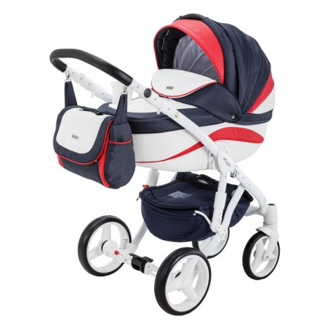 ADAMEX BARLETTA NEW 4w1 (z bazą isofix) Wózek dziecięcy wielofunkcyjny