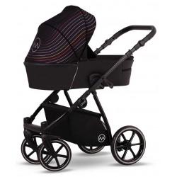 Wózek dziecięcy wielofunkcyjny Pax Lonex zestaw 3w1 czarny w paski