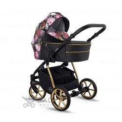 Wózek dziecięcy LONEX PAX ROSE w kwiaty zestaw 2w1 NOWOŚĆ!