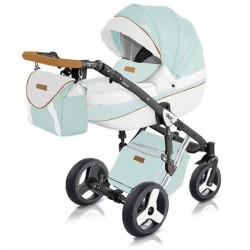 Pistacjowy wózek dziecięcy wielofunkcyjny Starlet New Milu Kids w zestawie 3w1