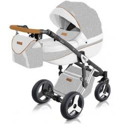Jasno-szary wózek dziecięcy wielofunkcyjny Starlet New Milu Kids w zestawie 3w1