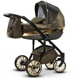 Wielofunkcyjny wózek dziecięcy Amber Wiejar w zestawie 3w1 z fotelikiem samochodowym