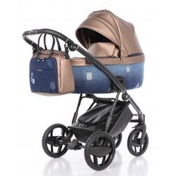 Ekskluzywny wózek INVICTUS 2.0 Jeans Blue 2W1
