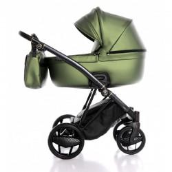 Ekskluzywny wózek INVICTUS 2.0 3w1 zielony metalik