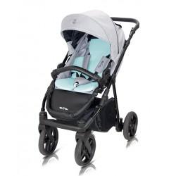 Wózek spacerowy Fiori Milu Kids czarno- fioletowy