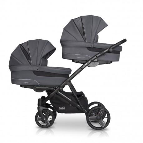 EasyGo wózek bliźniaczy 2 OF US 2w1 graphite