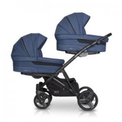 EasyGo wózek bliźniaczy 2 OF US 3w1jeans niebieski