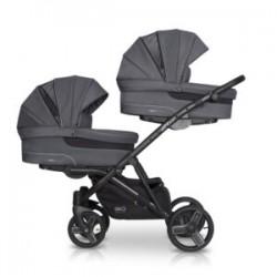 EasyGo wózek bliźniaczy 2 OF US 3w1 graphite
