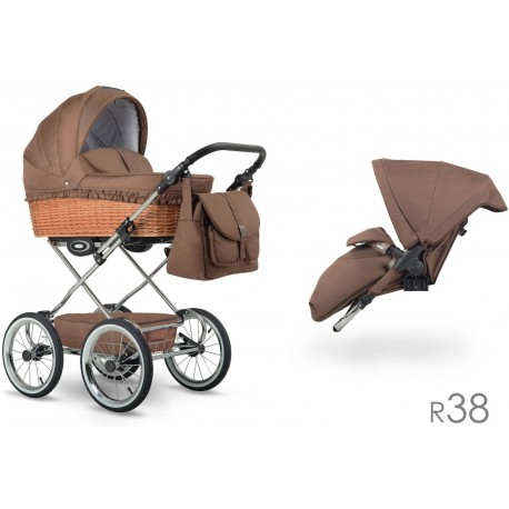 Klasyczny wózek dzieciecy Retro  Lonex 2w1