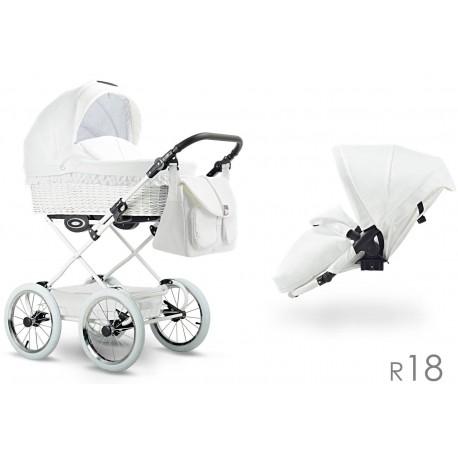 Klasyczny wózek dzieciecy Retro  Lonex 4w1