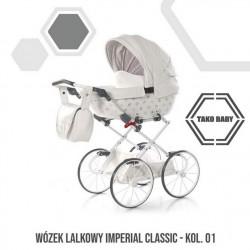 Przepiękny wózek dla lalek Tako Imeprial Mini Classic!! Biały wózek dla lalek