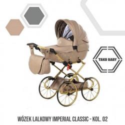 Przepiękny wózek dla lalek Tako Imeprial Mini Classic!! bezowy wózek dla lalek
