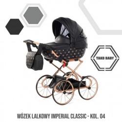 Przepiękny wózek dla lalek Tako Imeprial Mini Classic!! czarny wózek dla lalek