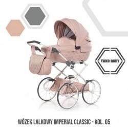 Przepiękny wózek dla lalek Tako Imeprial Mini Classic!! różowy wózek dla lalek