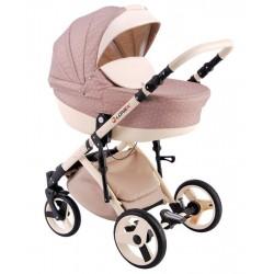 Różowy w kratkę wózek dziecięcy wielofunkcyjny Comfort LONEX 3w1