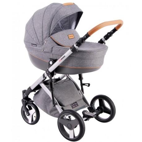 Comfort Prestige (len) Lonex - wózek dziecięcy wielofunkcyjny szary 3w1