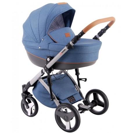 Comfort Prestige (len) Lonex - wózek dziecięcy wielofunkcyjny niebieski 3w1
