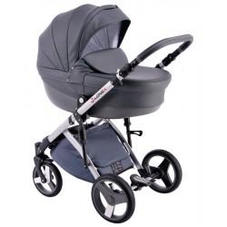Szary wózek dla dziecka COMFORT ECO 3w1 firmy Lonex