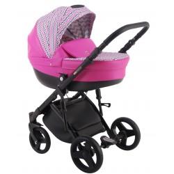 Różowy z wzorem Galaxy wózek dziecięcy wielofunkcyjny LONEX 3w1
