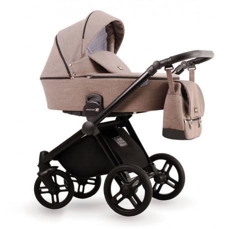 Brązowy wózek dziecięcy wielofunkcyjny Emotion XT  Lonex zestaw 3w1