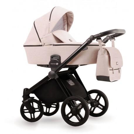 Kremowy wózek dziecięcy wielofunkcyjny Emotion XT  Lonex zestaw 3w1