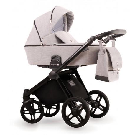 Beżowy wózek dziecięcy wielofunkcyjny Emotion XT  Lonex zestaw 3w1