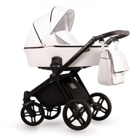 Biały wózek dziecięcy wielofunkcyjny Emotion XT w wersji eco Lonex zestaw 3w1