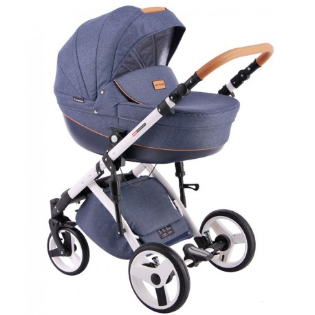Comfort Prestige (len) Lonex - wózek dziecięcy wielofunkcyjny granatowy 3w1