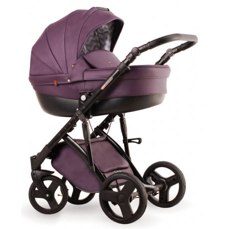 Fioletowy Galaxy wózek dziecięcy wielofunkcyjny LONEX 3w1