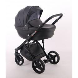 Czarny wózek dla dziecka COMFORT ECO 3w1 firmy Lonex