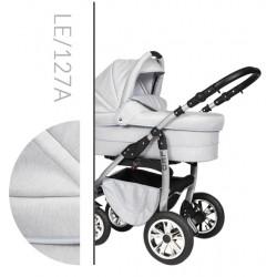 Leo Baby Merc tani nowoczesny wózek dziecięcy wielofunkcyjny 3w1 jasno szary