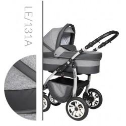 Leo Baby Merc tani nowoczesny wózek dziecięcy wielofunkcyjny 3w1 szary