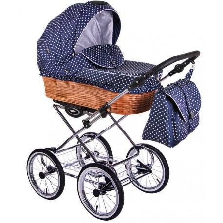 Klasyczny wózek dzieciecy Retro  Lonex 3w1