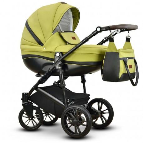 Sawo eco Vega wózek dziecięcy zielony wielofunkcyjny 3w1