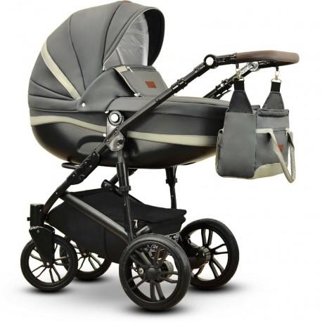 Sawo eco Vega wózek dziecięcy szary wielofunkcyjny 3w1