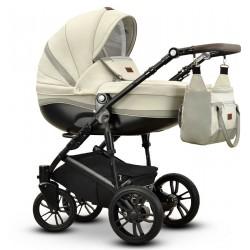 Sawo eco Vega wózek dziecięcy wielofunkcyjny kremowy gondola + stelaż