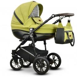 Sawo eco Vega wózek dziecięcy wielofunkcyjny zielony gondola + stelaż