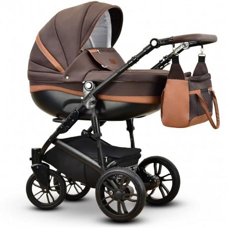 Sawo eco Vega wózek dziecięcy wielofunkcyjny brązowy gondola + stelaż