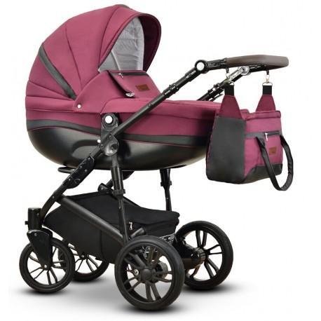 Sawo Vega wózek dziecięcy wielofunkcyjny bordowy gondola + stelaż