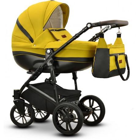 Sawo Vega wózek dziecięcy wielofunkcyjny żółty gondola + stelaż